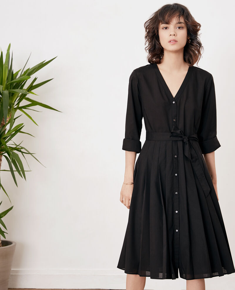 Robe avec plissé Noir Festival