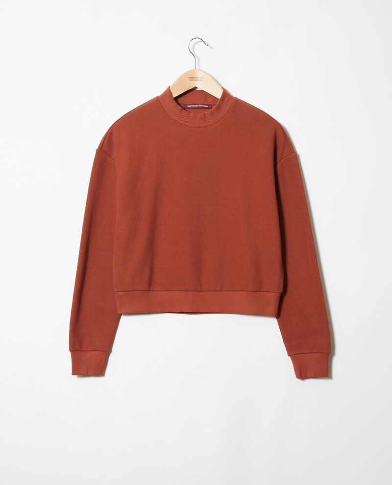Sweatshirt court Brandy brown Jizela