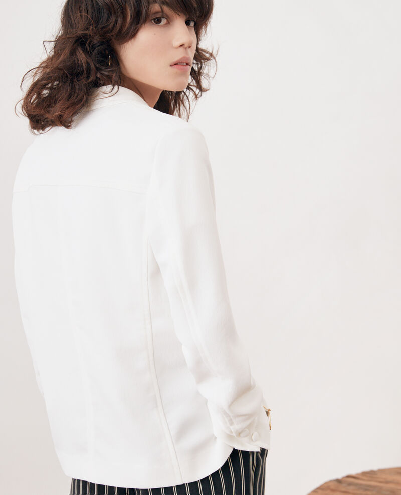 Veste en crêpe Blanc Fociba