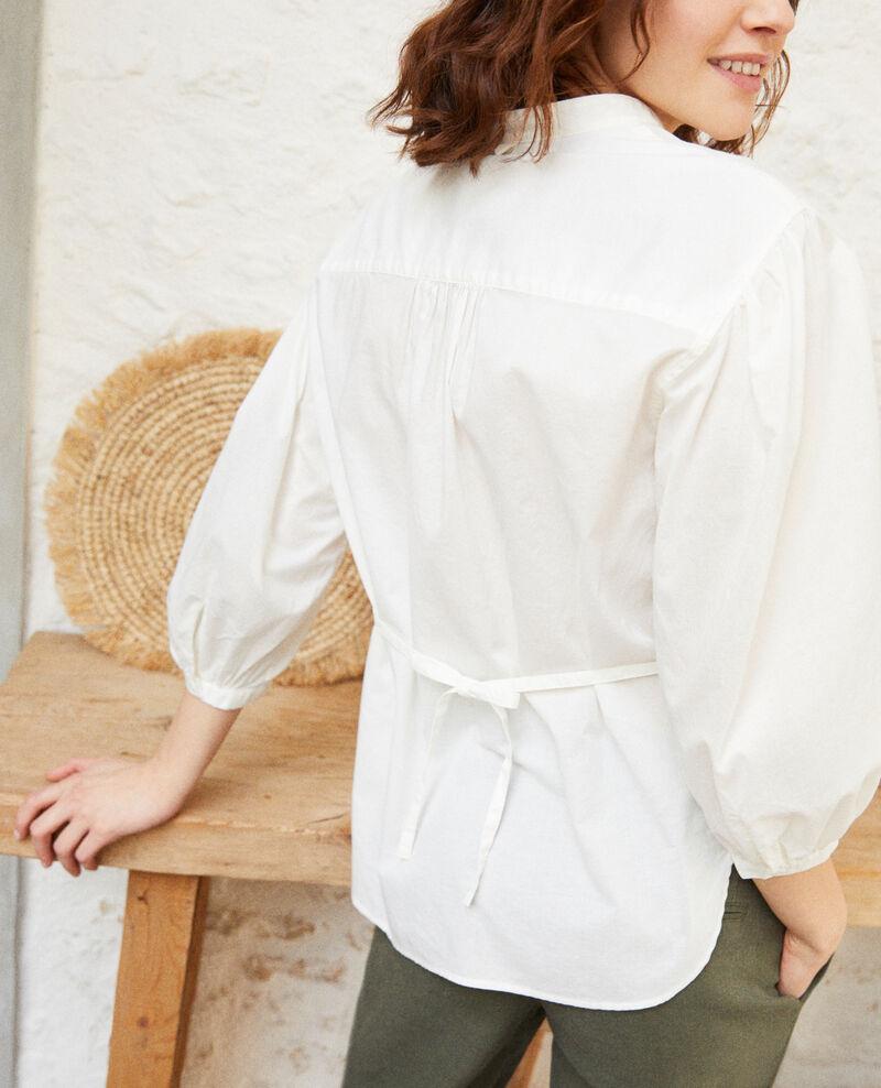Blouse à plastron Blanc Itape