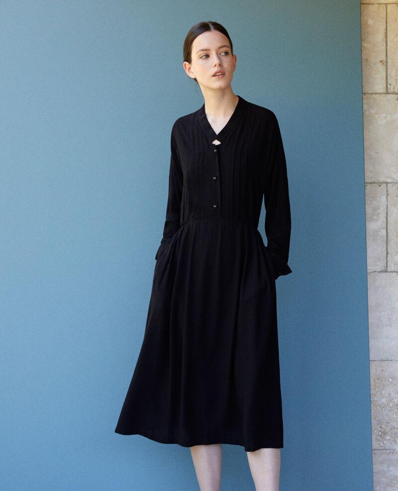 Robe longueur midi Noir Gevian