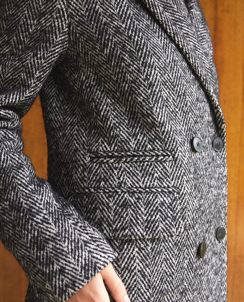 Manteau intemporel tailoring Noir/blanc Gurguy