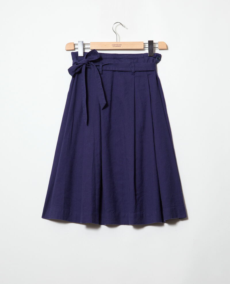 Jupe en coton lin Sapphire navy Ivinea