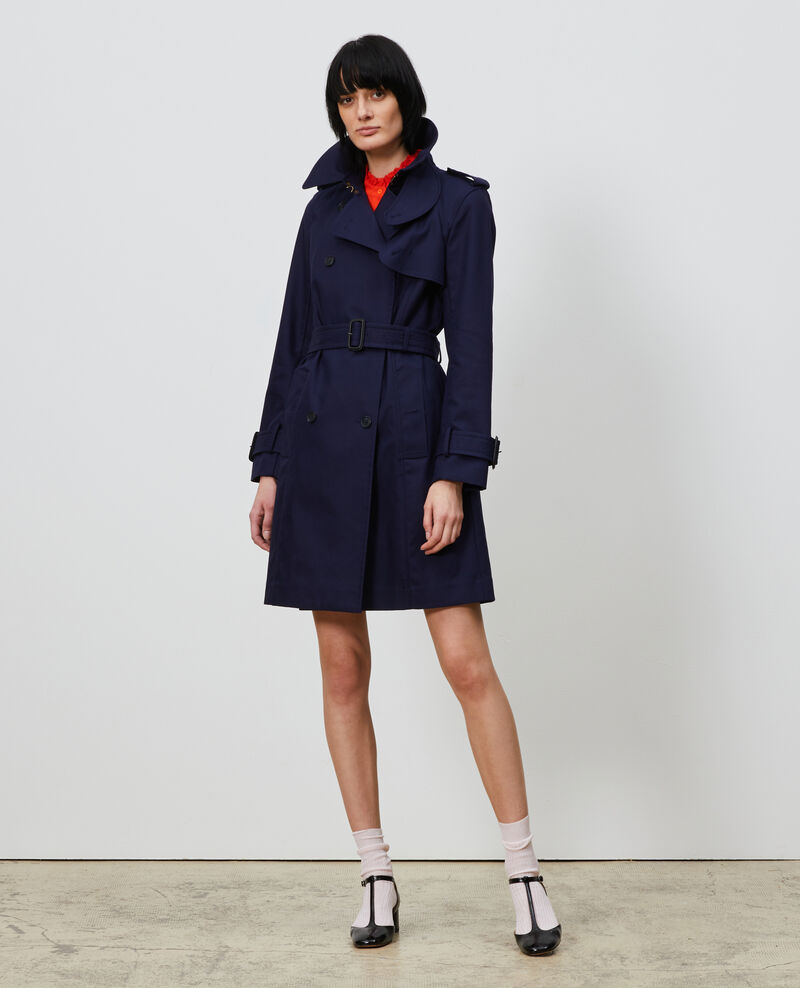 CATHERINE - Trench iconique en coton Maritime blue Lambert