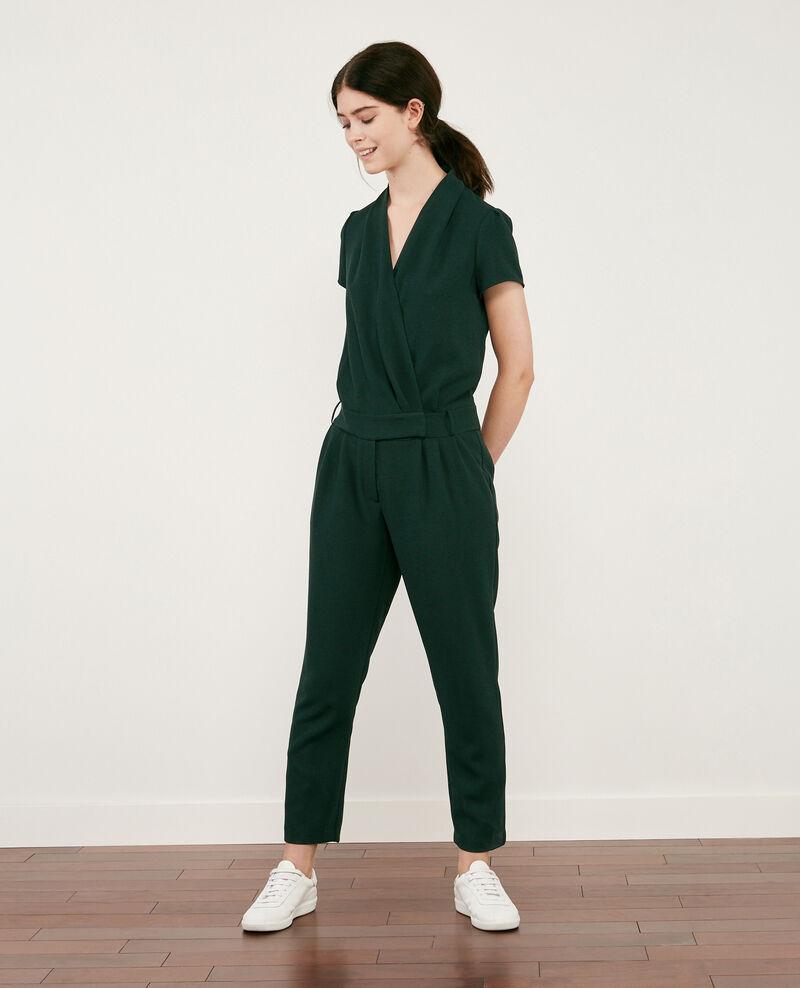 Combi-pantalon en crêpe Deep green Cabalona