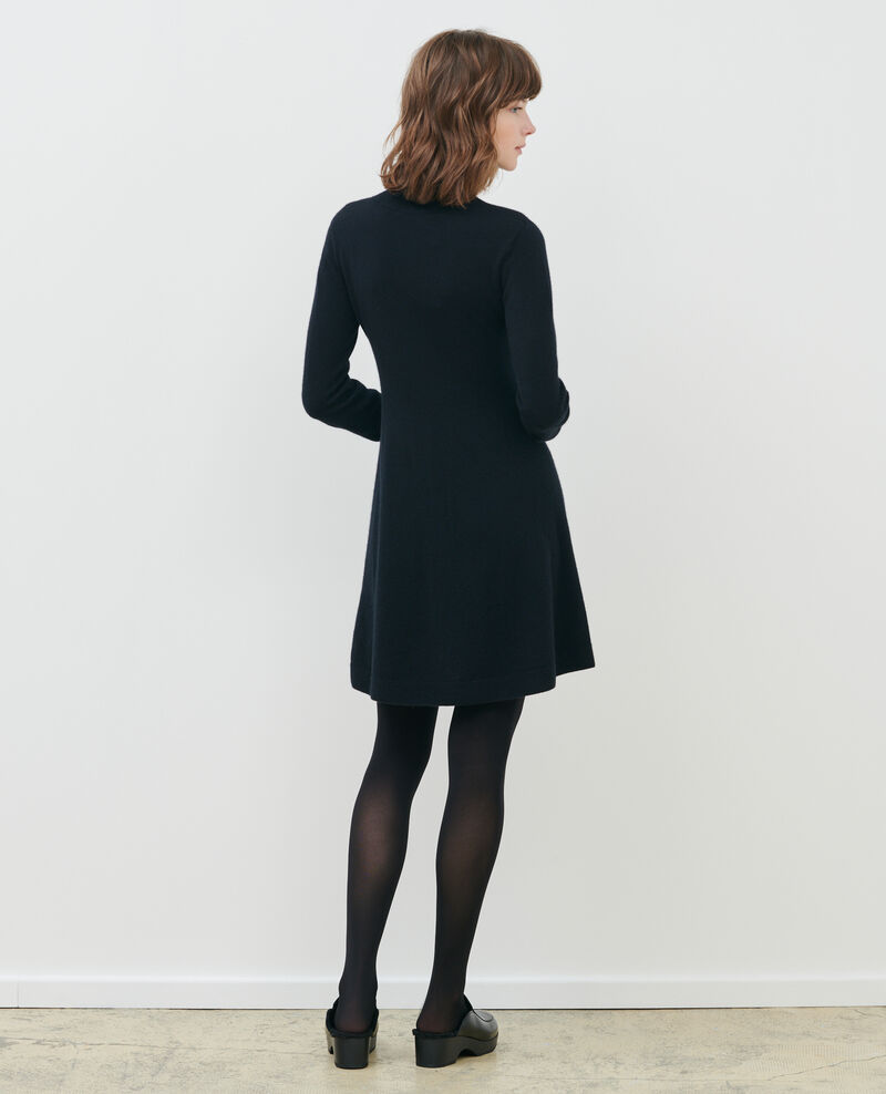 Robe courte en cachemire 3D Black beauty Paulnela
