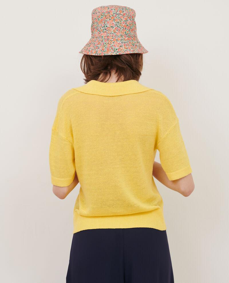 Polo léger en lin Lemon drop Novella