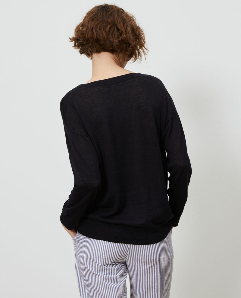 Pull en lin et coton bio Black beauty Leonotis