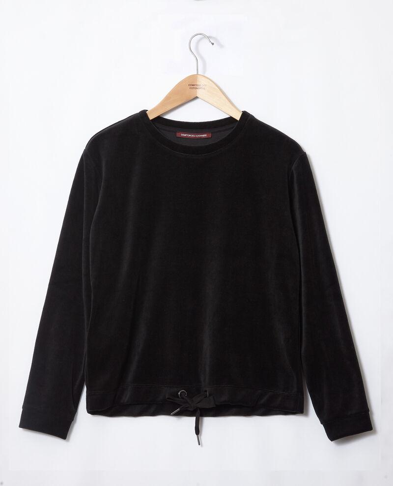 Sweet-shirt en velours Noir Gala