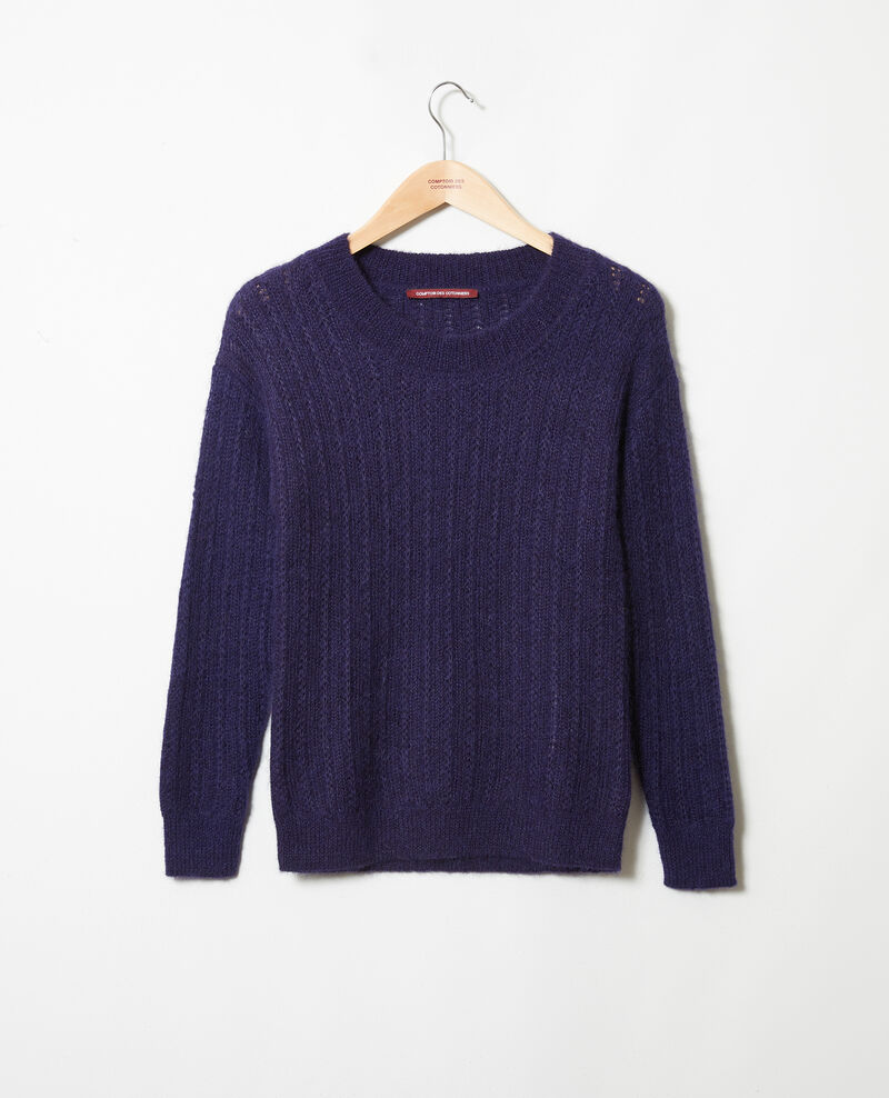 Pull en maille fantaisie Evening blue Joupy