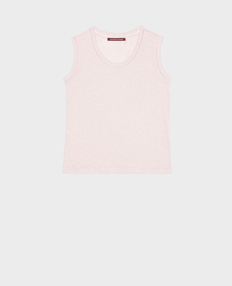 Débardeur ajouré en lin jersey Primrose pink Lespa