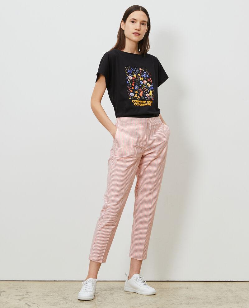 T-shirt en coton manches courtes Black beauty Marcelin