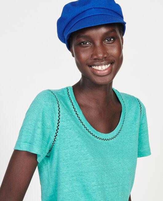 T-shirt en lin jersey  BRIGHT AQUA