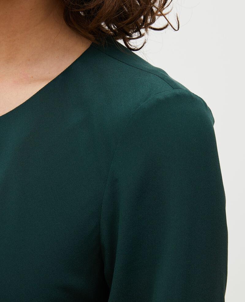 Robe fluide en soie coupée en biais Scarab Mantet