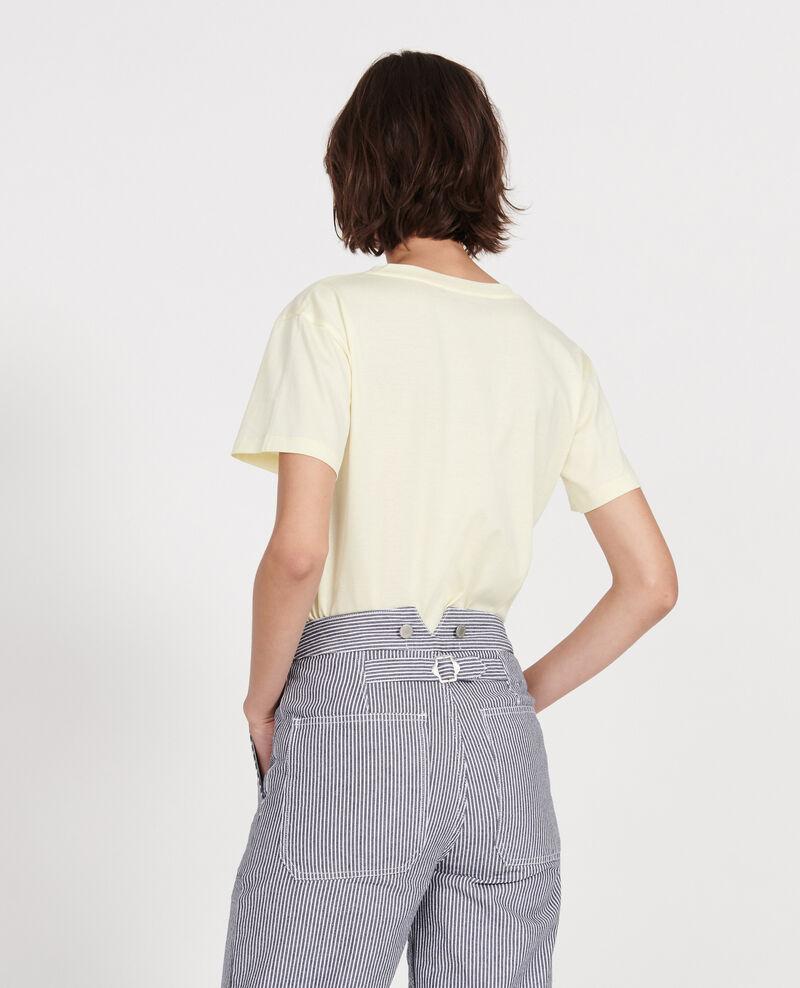 T-shirt en coton égyptien Tender yellow Laberne