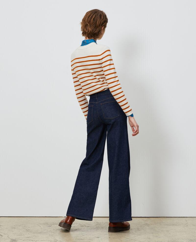 FLARE - Jean taille haute Denim rinse Neuflize