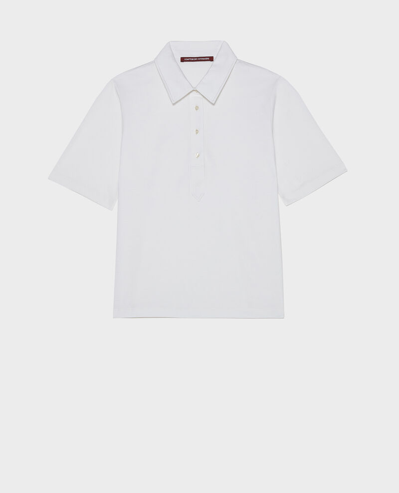 Polo en coton égyptien Optical white Levas