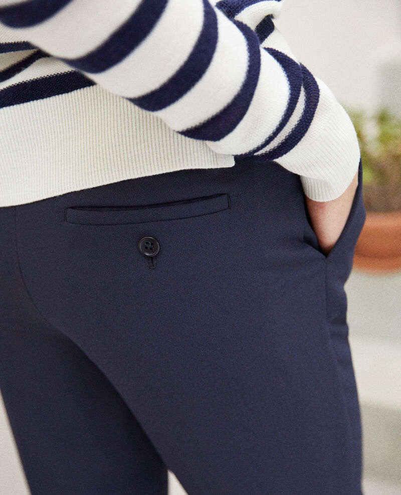 Pantalon coupe carotte Navy Iouioui