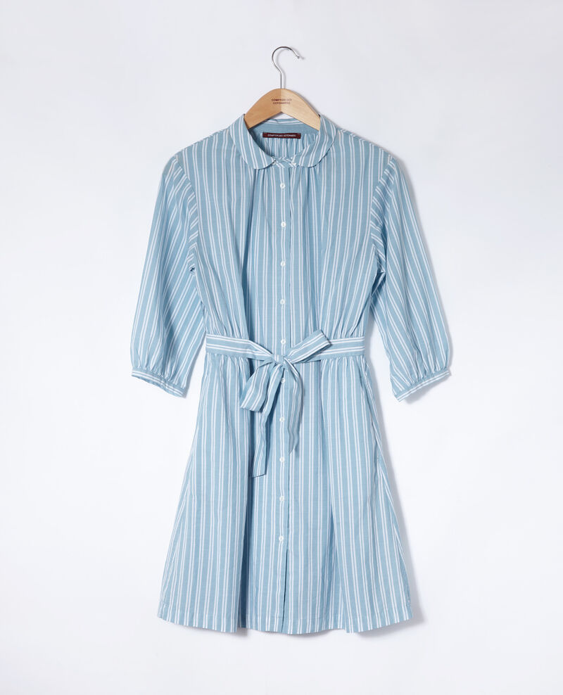 Robe ceinturée Adriatic/off white stripes Gardenia