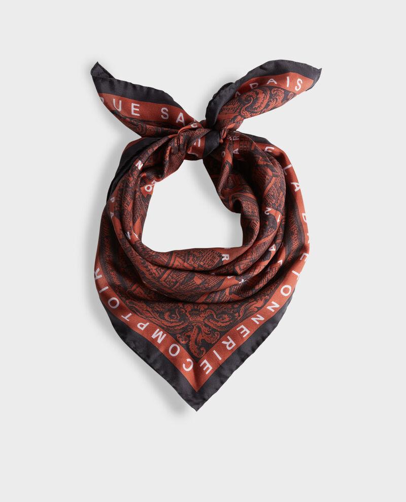 Foulard carré de soie Brandy brown Mamap