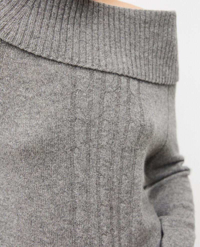 Pull avec détails de torsades Medium heather grey Girma