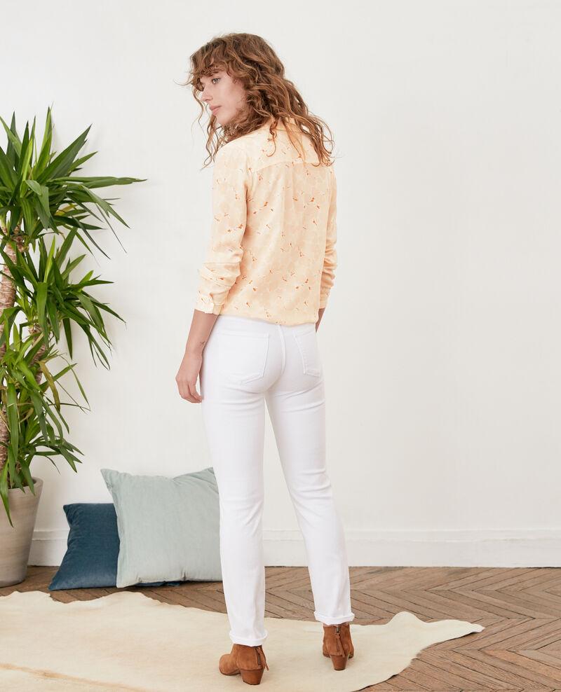Jeans cigarette Off white Figossa