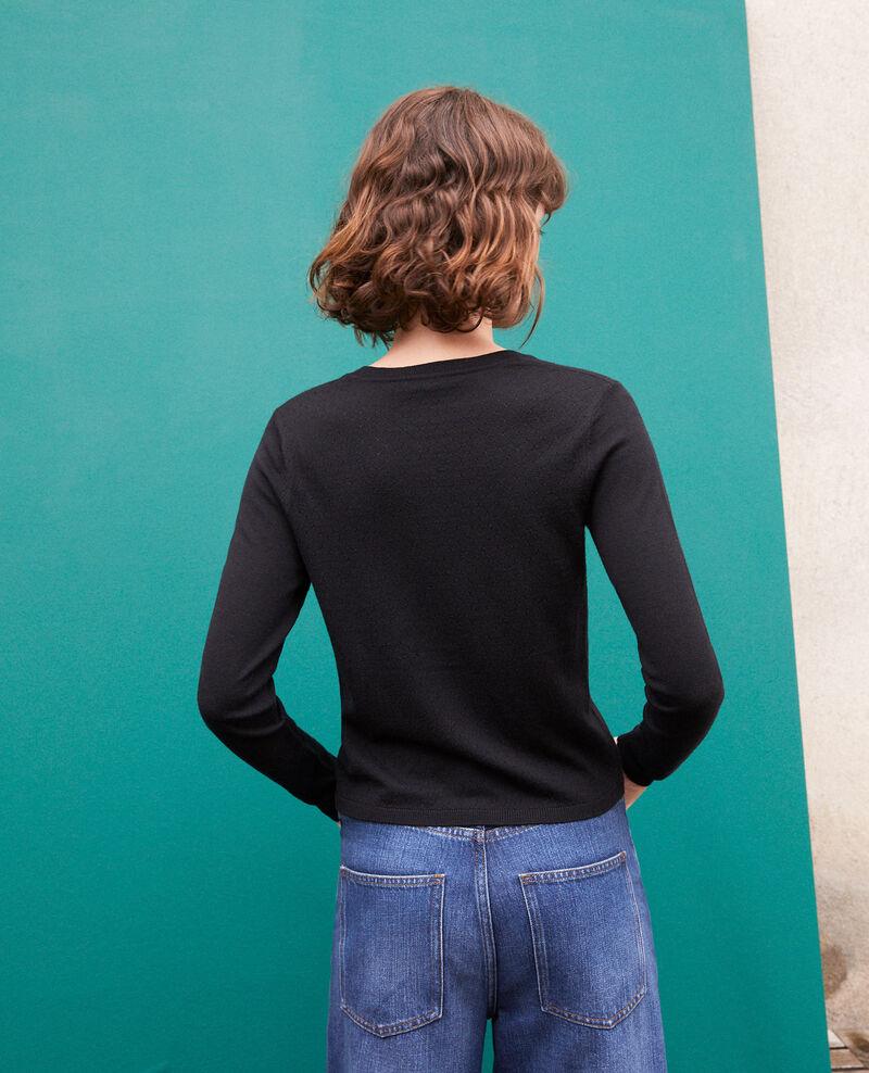 Cardigan en laine mérinos Noir Godard
