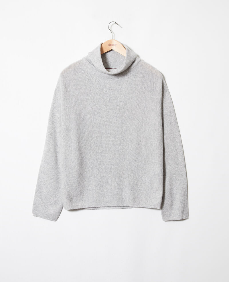 Pull 100% cachemire Light grey Jinette