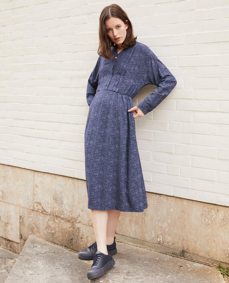Robe imprimée Ld majolica blue Geviana