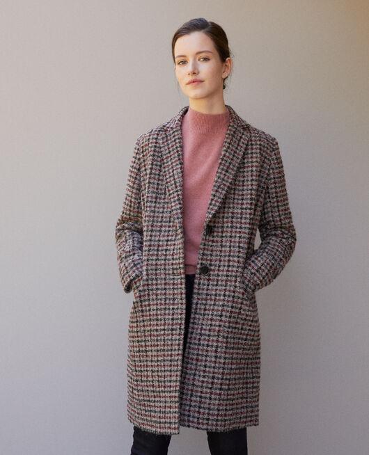 Manteau coupe droite COWHIDE