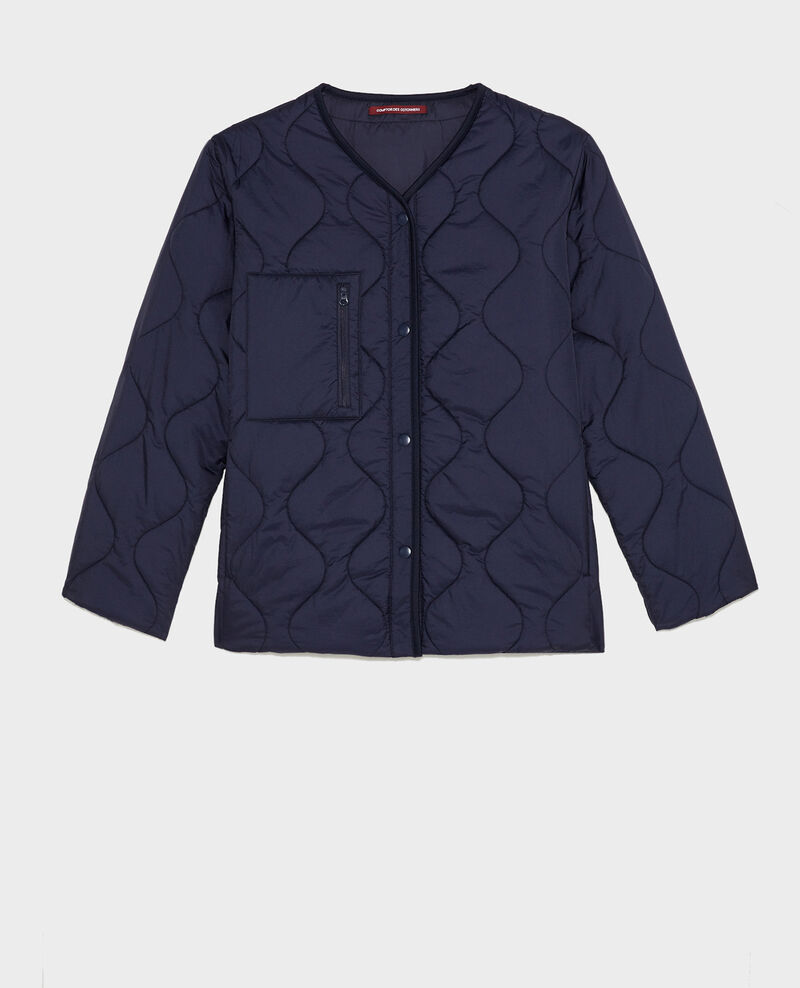 Veste doudoune ample col V  Night sky Matra