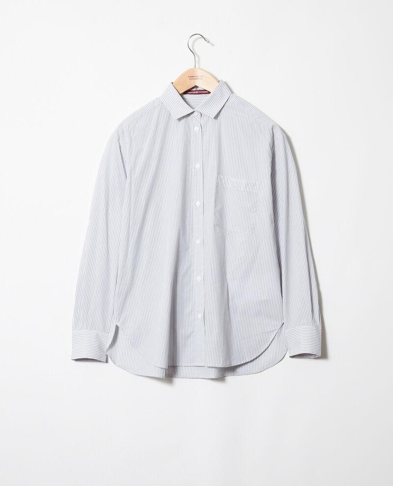 Chemise rayée en coton Ss navy Jadori