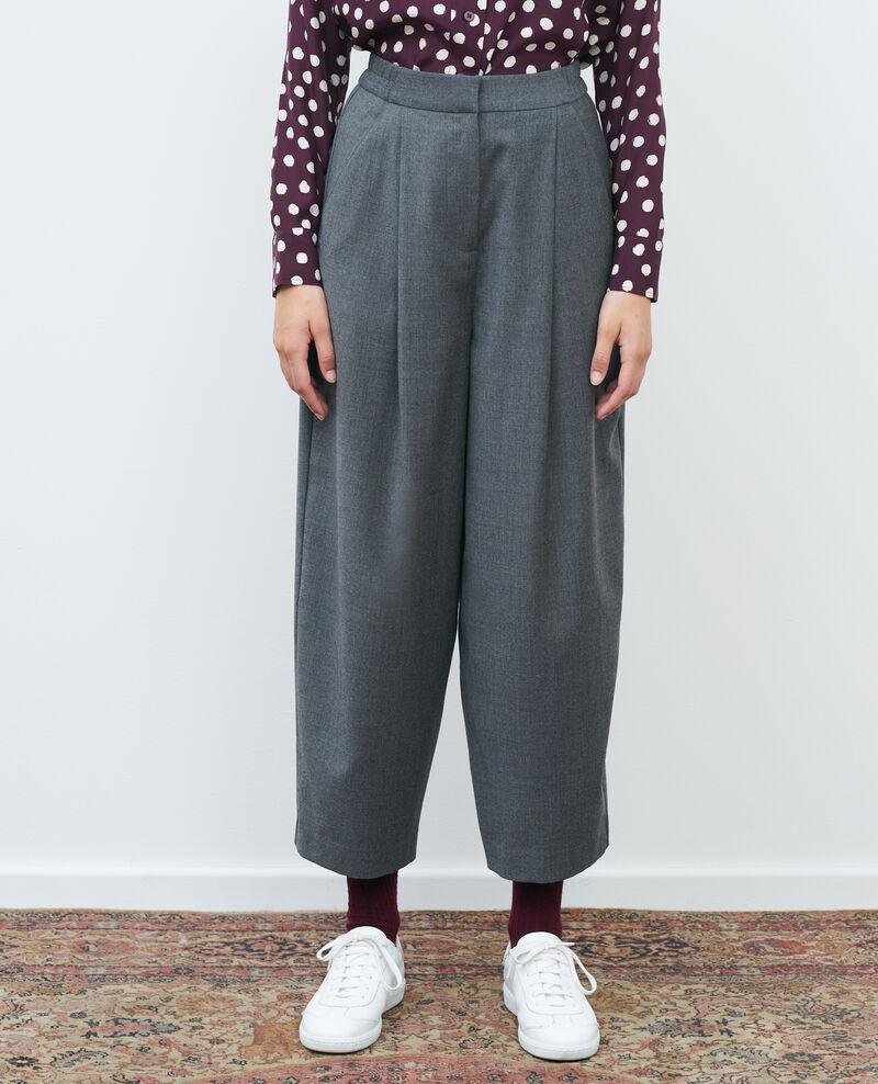 SYDONIE - BALLOON - Pantalon à jambe resserrée Medium grey melange Paluges