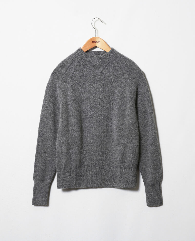 Pull col cheminée Middle grey Jipali
