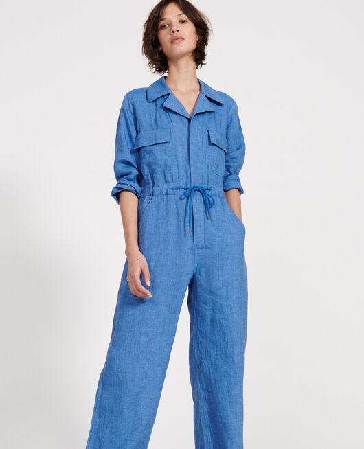 Combinaison pantalon en lin INDIGO