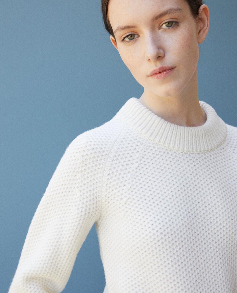 Pull en laine Off white Ginseng