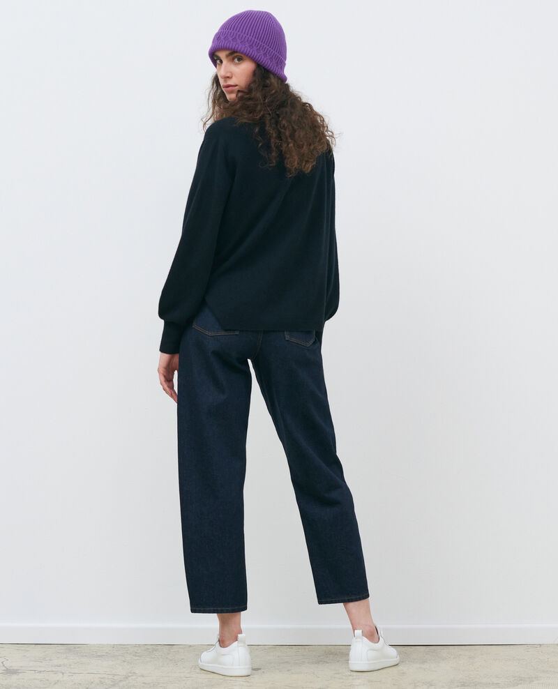 Cardigan ample 3D en cachemire Black beauty Paltazar