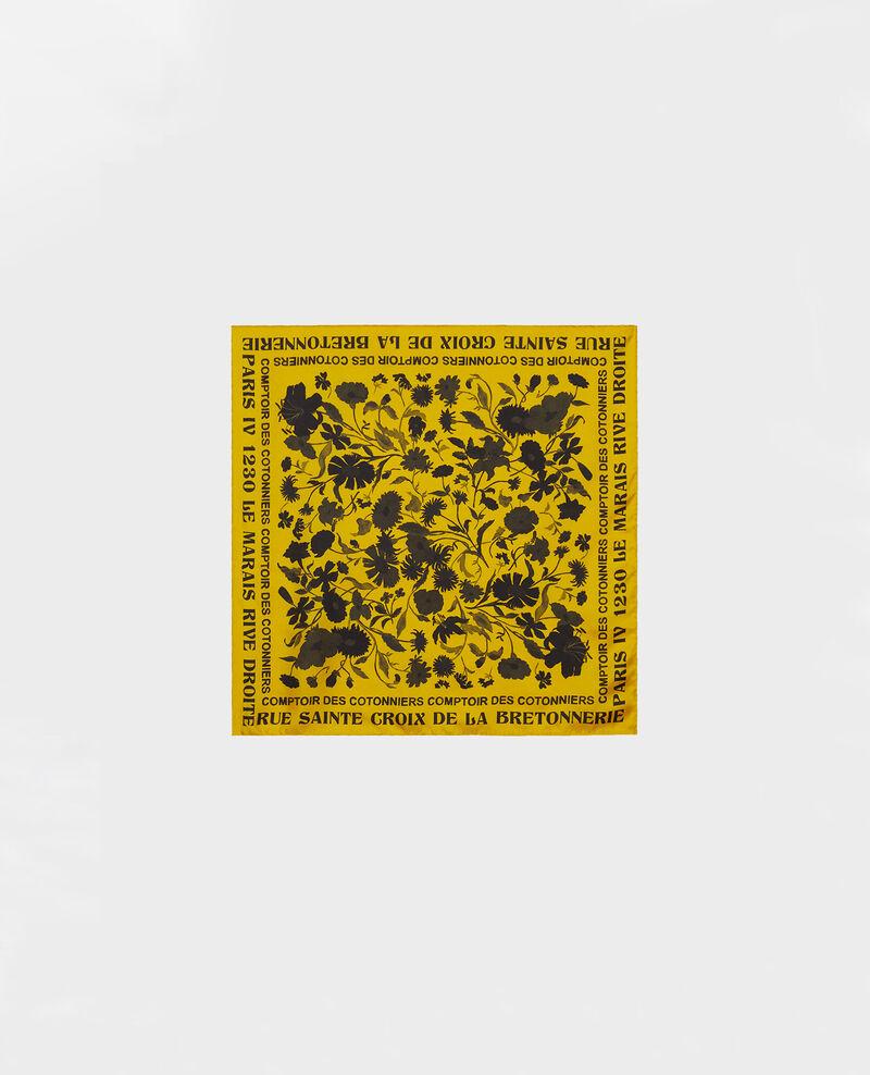 Foulard carré de soie Lemon curry Maraiche