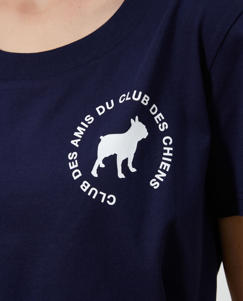 T-shirt en coton Maritime blue Nyer