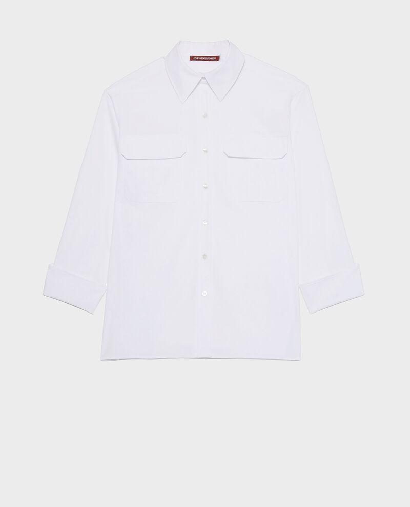 Chemise d'homme en coton oversize  Optical white Lauryl