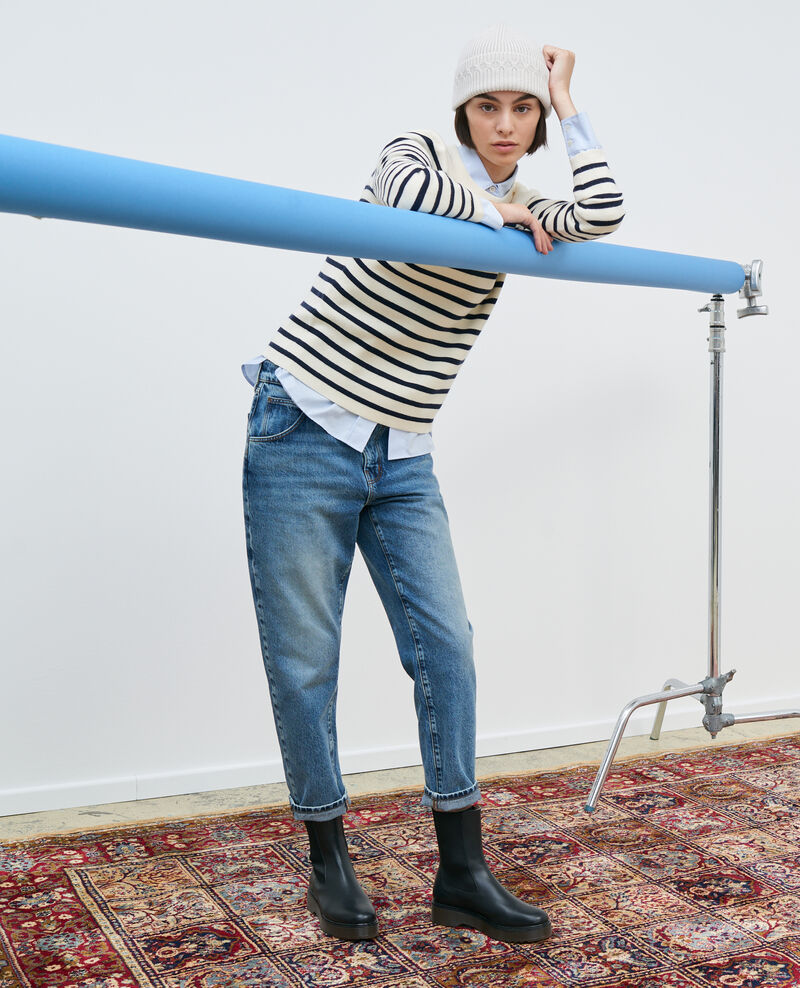 RITA - SLOUCHY - Jean ample taille descendue Vintage mid wash Peronac