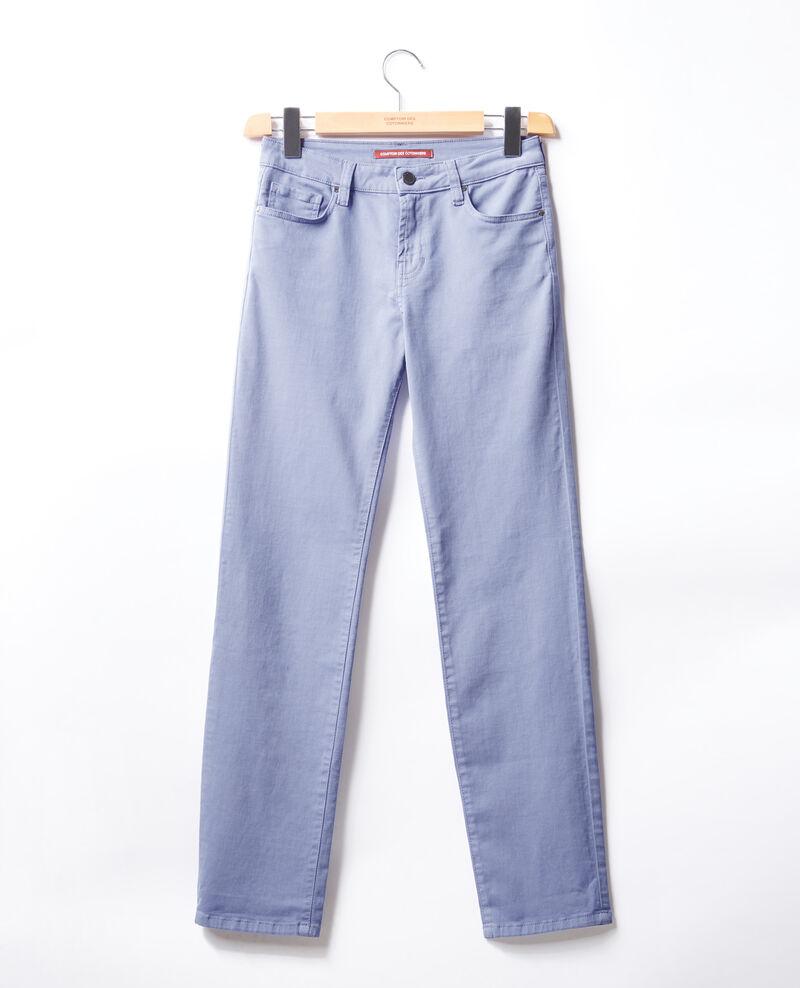 Jeans cigarette Dark iris Figoneto