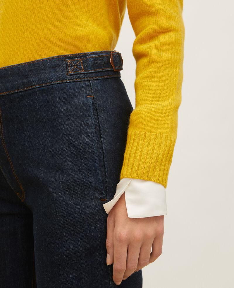 FLARE STRAIGHT - Pantalon ajusté en denim brut Denim rinse Libbie