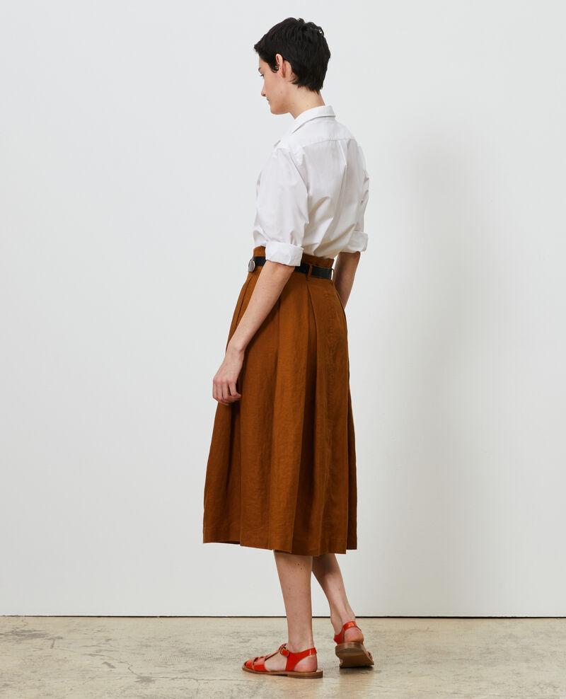 Jupe mi-longue en lin Monks robe Lorlange
