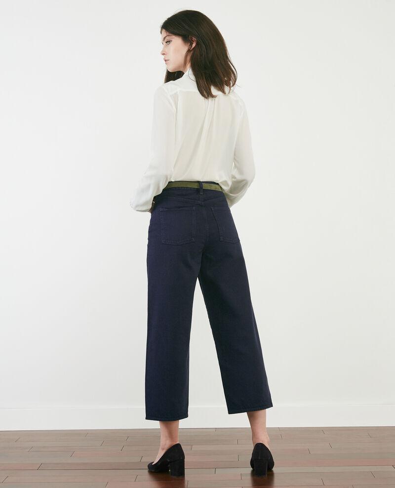 Jeans cropped large Navy overdye Delenta