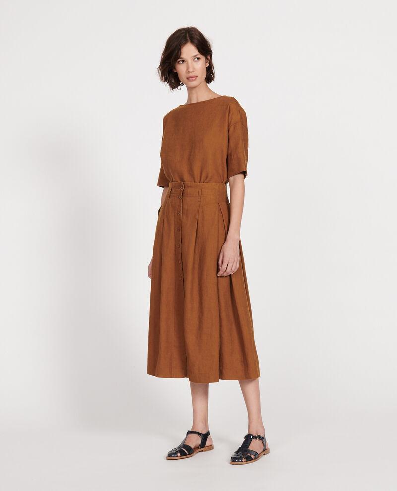 Jupe large en lin Monks robe Lorlange