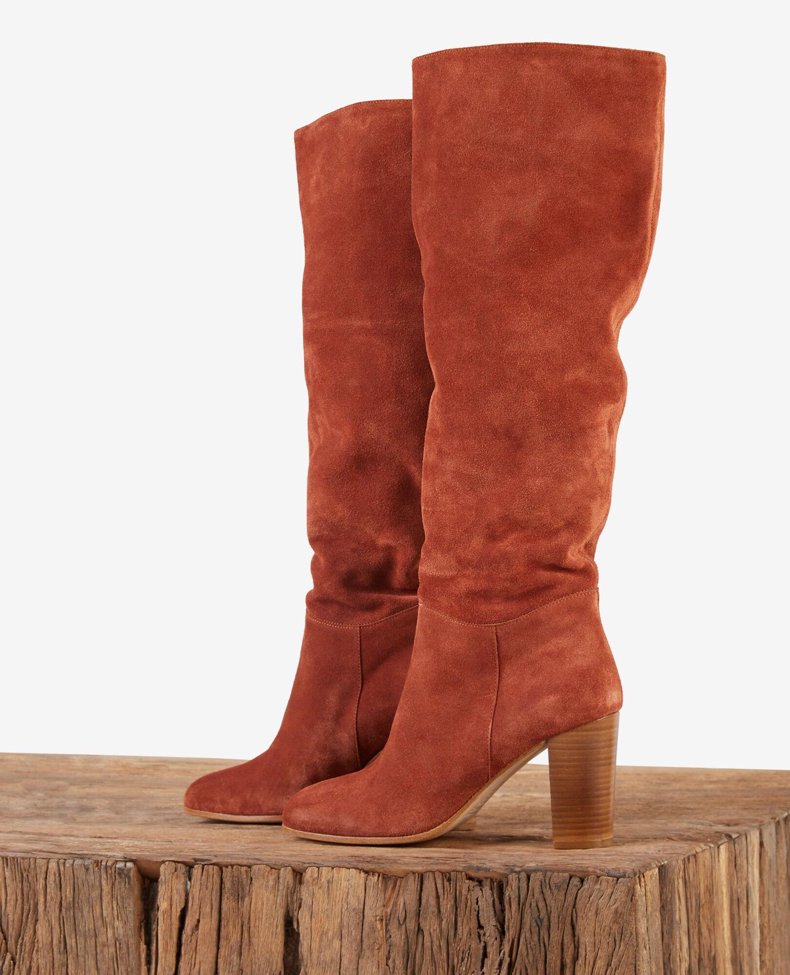 cuir en velours Bottes couleur femme DotteComptoir des Rust IgvYfmb76y