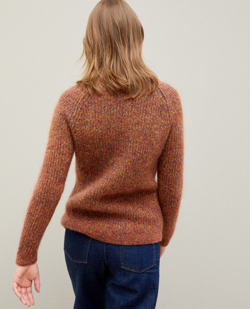 Pull chiné en mohair Golden spice/picante/medieval blue Girofle