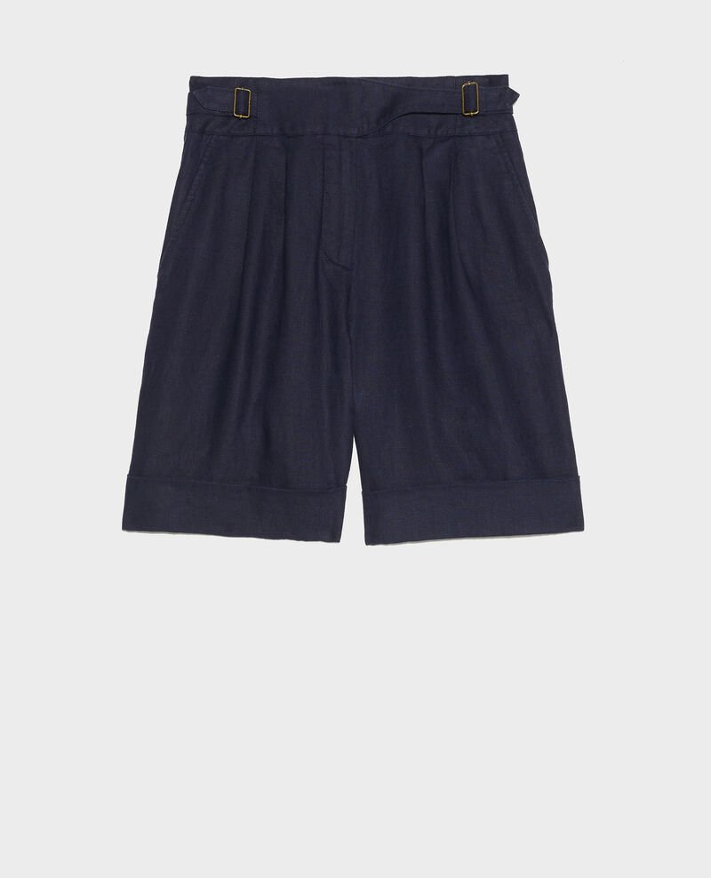 Short en lin Maritime blue Laudi