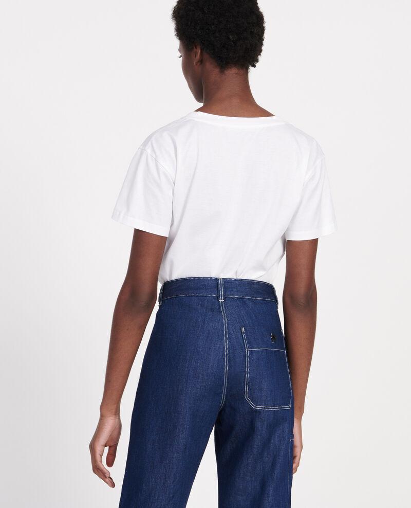 T-shirt en coton égyptien Optical white Laberne